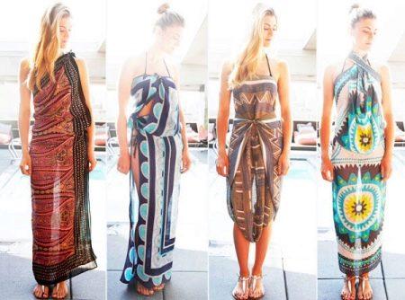 Платье саронг