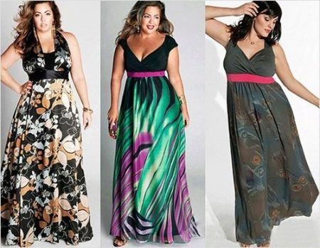 Длинные платье правильного фасона и расцветки скрывающие выпирающий живот