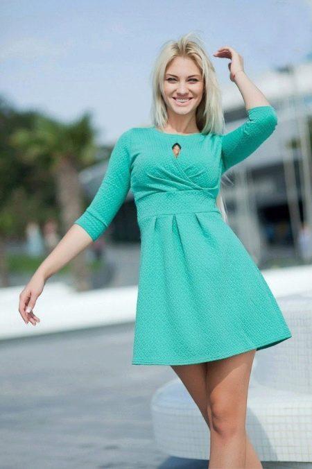 Бирюзовое платье