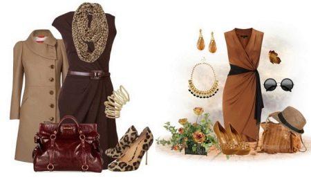 Аксессуары к коричневому платью