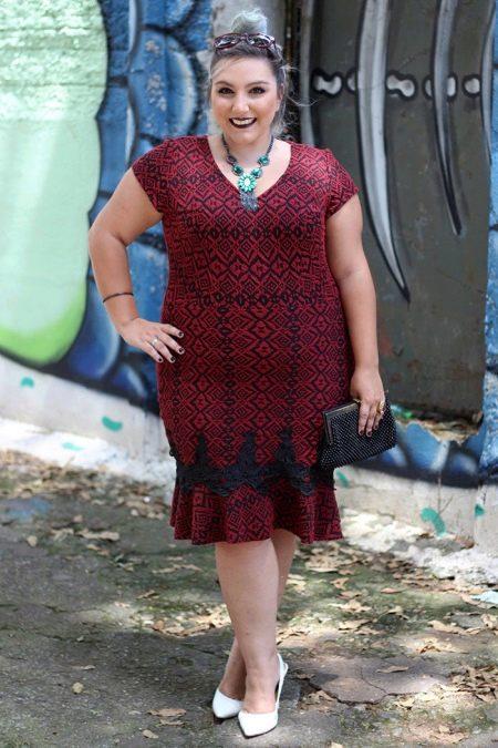 С чем носить платья полным невысоким женщинам - аксессуары