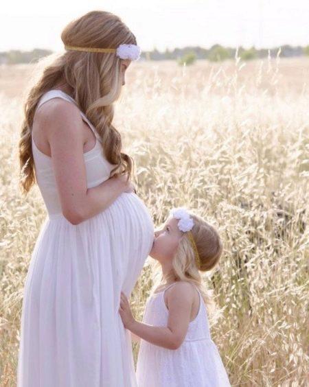 Хлопковое платье для беременной