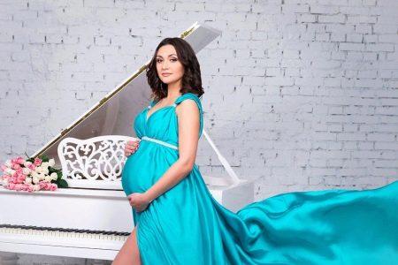 Шелковое платье для беременной
