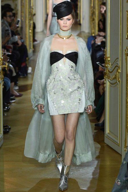 Короткое платье с длинным халатом