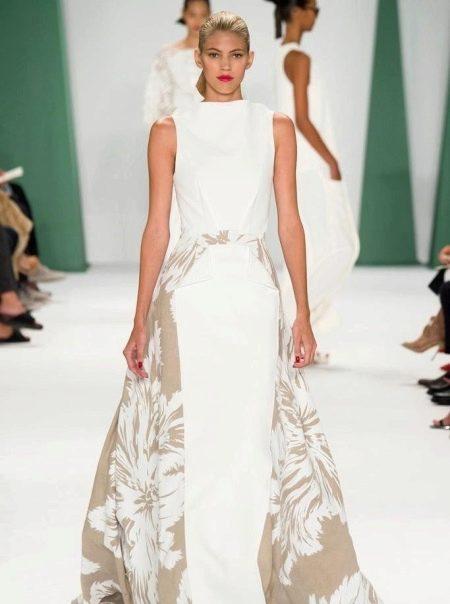 Платье а-силуэта с боковыми вставками