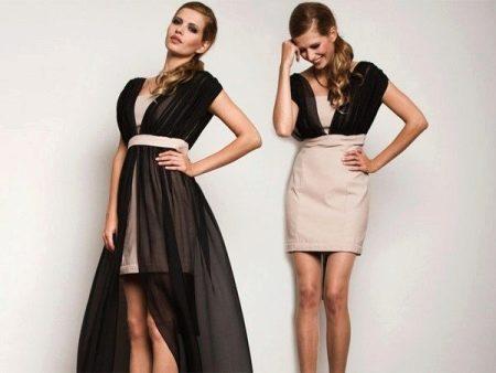 Платье-трансформер двухцветное