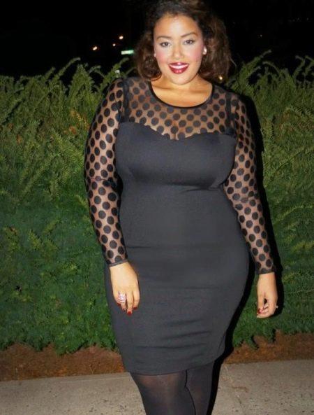 Черное платье-футляр для полных женщин