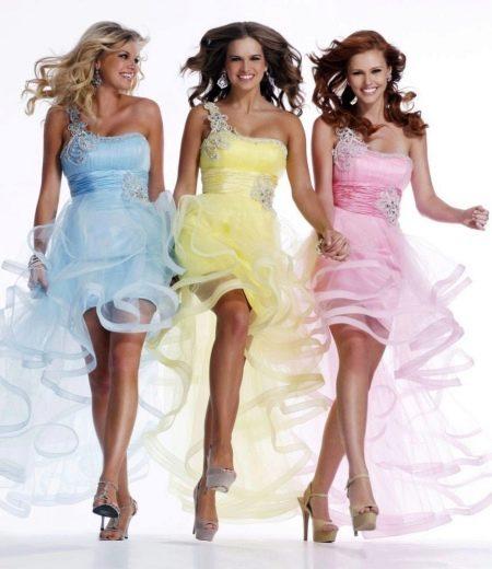 Коктейльные платья из органзы
