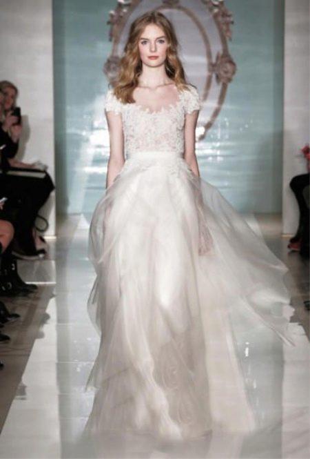 Свадебное платье из органзы от Рим Акры