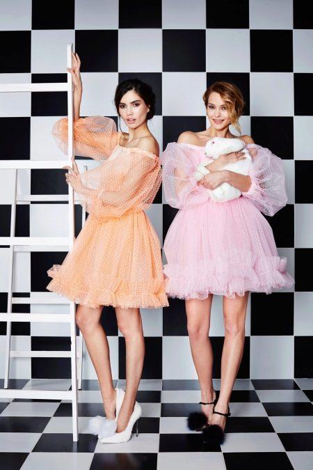Коктейльные платье из органзы