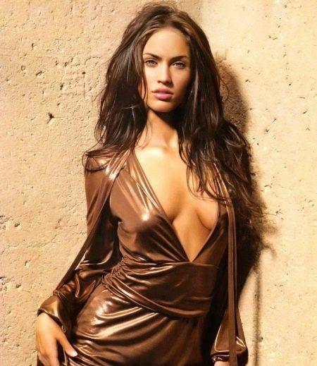 Естественный макияж под платье шоколадного цвета