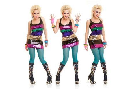 Платье в стиле диско с леггинсами