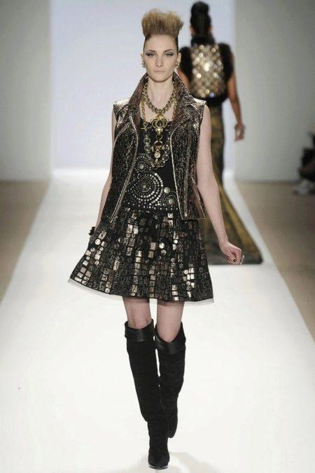 Платье в стиле рок с жилеткой