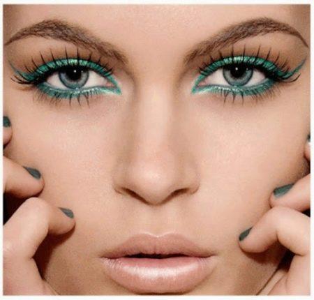макияж с изумрудной подводкой