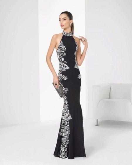 Цветочное платье-футляр
