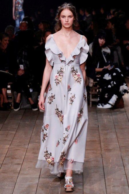 Обувь к платью с цветочным принтом