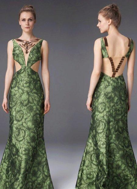 Цветочное платье с открытой спиной