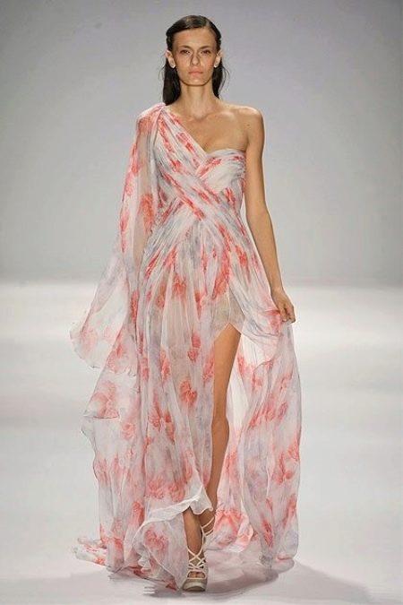 Шифоновое греческое платье