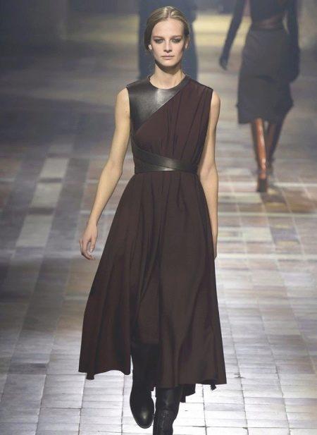 Платье с кожей в греческом стиле