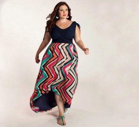 Правильный фасон и материал для длинного платья на полную девушку (женщину)