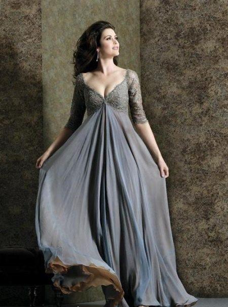 Длинное в пол платье на любой случай для полной женщины (девушки)