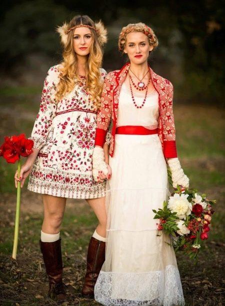 Платья в русском стиле