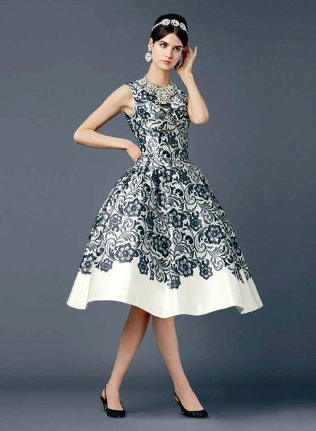Платье в стиле нью лук кружевное