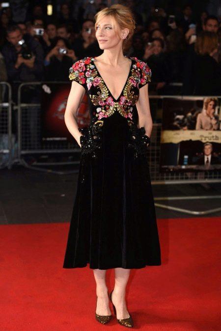 Винтажное платье  черное