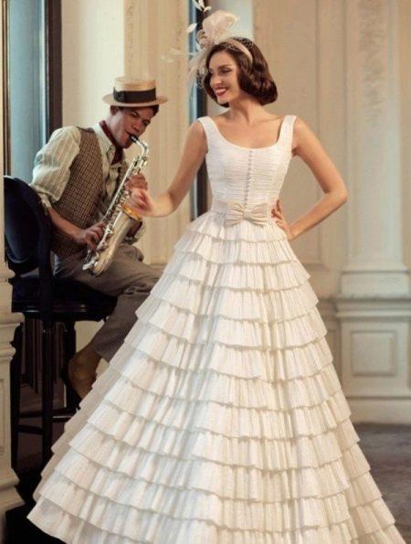 Винтажное свадебное платье в стиле нью лук