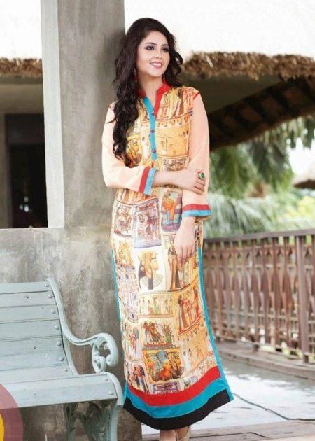 Яркое летнее платье в восточном стиле