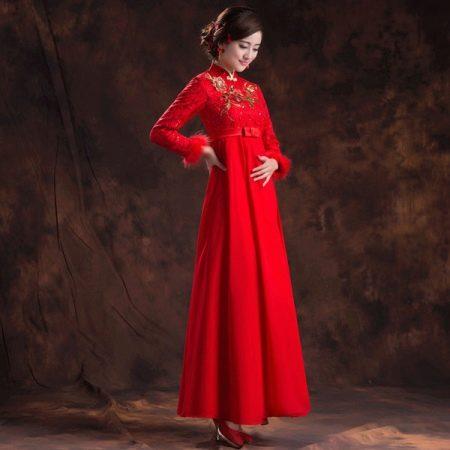 Платье в восточном стиле для полной женщины