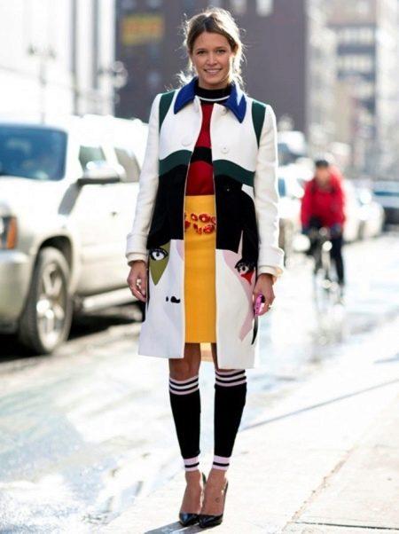 Спортивное платье с гетрами