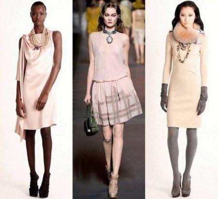 Обувь к телесному платью
