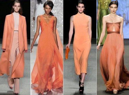 Платья цвета Оранжевый кадмий