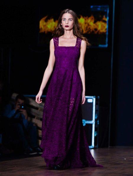 Платье цвета аметист