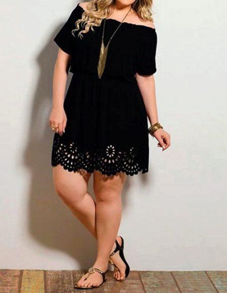 С чем носить трикотажное платье полной девушке - аксессуары
