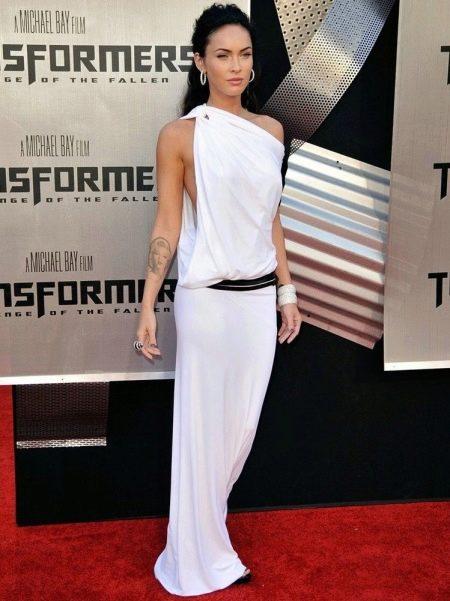 Платье-тога с асимметричным верхом