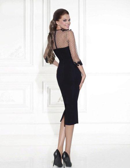 Платье футляр с молнией на спине