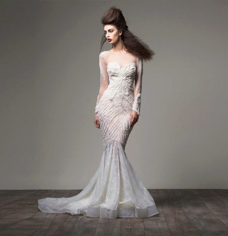 Платье русалка с рукавом