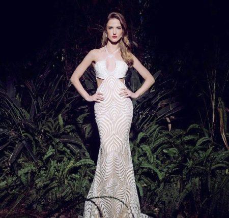 Платье русалка с вырезом на талии