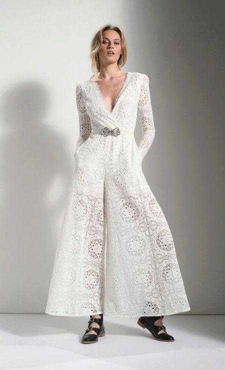 Платье кюлот кружевное