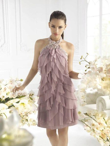 Коктейльное платье смок