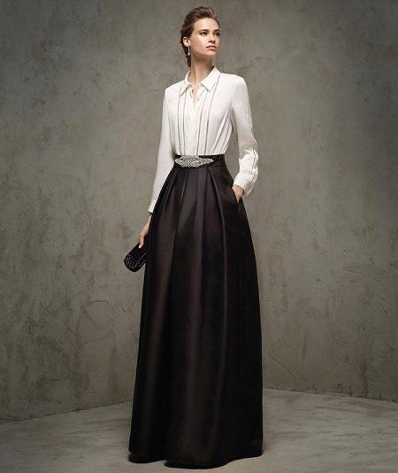 Платье-рубашка а-силуэта