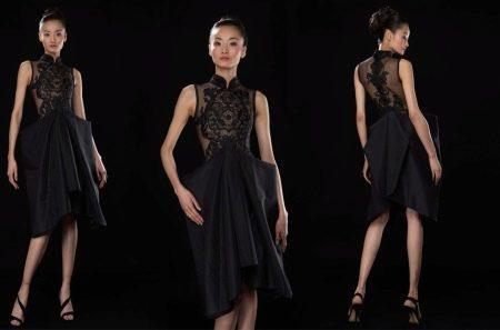 Платье чеонгсам современное
