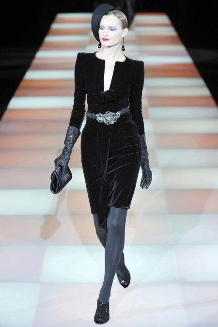Бархатное платье футляр