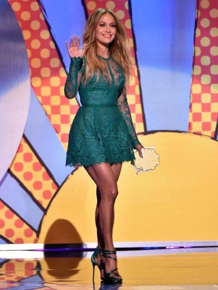Зеленое платье Дженифер Лопес