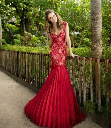 Гипюровое платье русалка