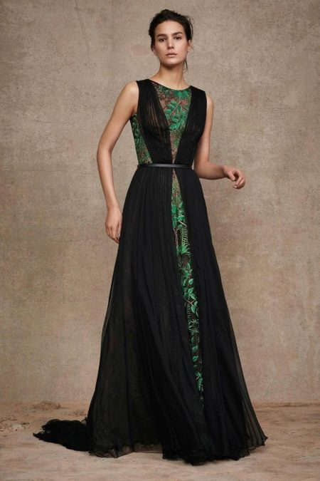 Платье гипюровое с шифоном