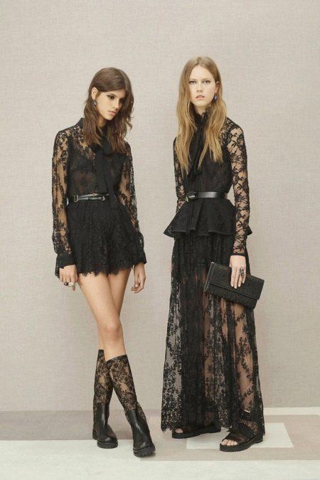 Гипюровые платья короткое и длинное