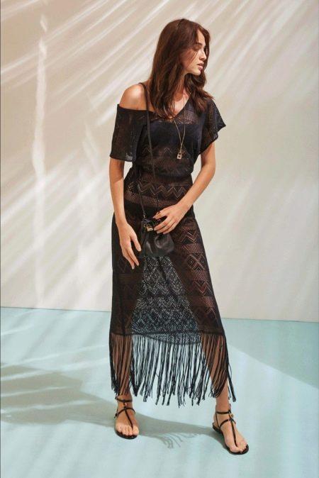 Платье гипюровое с коротким рукавом
